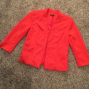 Premise Orange Blazer Jacket w/ Pockets Medium